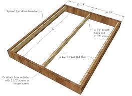 Queen Size Platform Bed Plans King Size Platform Bed Plans With ...