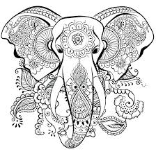coloring pages of elephants free