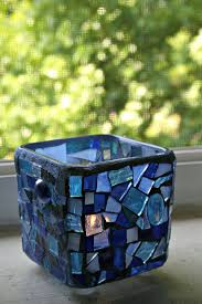 blue glass candle holders beautiful blue stained glpieces add such a soft subtle addition to any room in