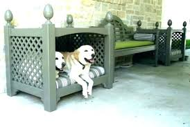 Outdoor Dog Bed With Canopy Beds Wicker Pet Large