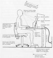 ergonomic desk setup. Workstation Desk Setup Following Ergonomic Recommendations. As Part G
