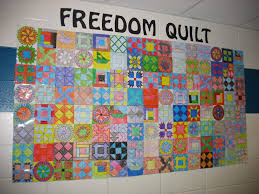 education unplugged we made a paper pieced quilt using the codes we ve been learning in social studies about how slaves secretly communicated each other