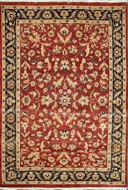 details about traditional hand knotted persian area rug red black oriental rugs size 4 5 x 7