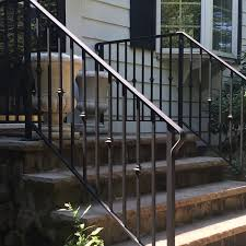 outdoor metal stair railing. Outdoor Staircase With Metal Handrails Exterior Wrought Iron Railings Stair Regarding Railing Contendsocial.co