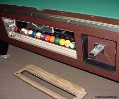 Valley Rolling Color Chart How Does The Ball Return Work On A Coin Operated Pool Table