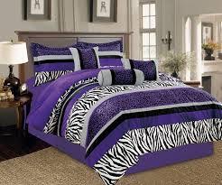 bedspread purple and black bedding sets white full size comforter bright zebra leopard micro fur