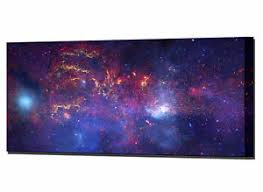 >milky way galaxy canvas print wall art hubble space telescope ready  image is loading milky way galaxy canvas print wall art hubble