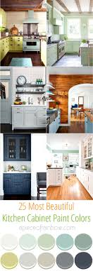 25 most gorgeous paint color palettes for kitchen cabinets and beyond.  Easily transform your kitchen