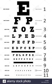 An Eye Sight Test Chart Stock Photo 96551414 Alamy