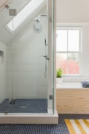 attic shower. bright bathroom with showerskylight combo this old house project cambridge ma attic shower