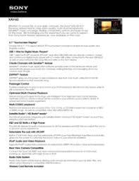 sony cars xav 60 pdf installation connections manual sony xav 60 manual