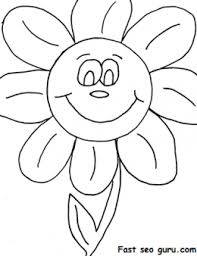 Small Picture Print out happy face Daisy flowers coloring pages Printable