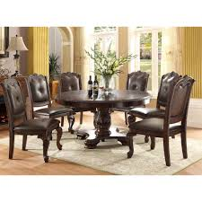 alexandria round dining table 4 side chairs 2150t