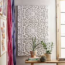 carved wall art carved wooden wall panels hangings dcor with regard to carved wall art plan  on carved medallion wall art panels set of 4 with lennon maisy ornate wood carved wall art set of 3 pbteen intended