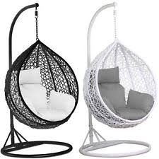 chair ebay. rattan swing patio garden weave hanging egg chair w/cushion\u0026 cover in or outdoor ebay
