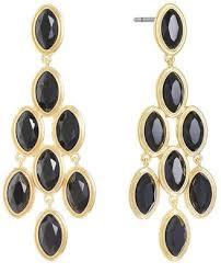 monet jewelry monet jewelry black chandelier earrings