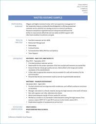 Waiter Resume Sample 2019 Pdf Resume Examples Waiter 2020 Resume