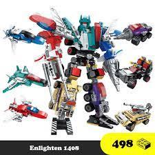 Lego lắp ráp Robot - Lego Robot Transformer Enlighten 1412 6 in 1 - Đồ chơi  trí tuệ 500+ mảnh ghép