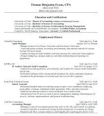 External Auditor Resume Format Senior Ptctechniques Info
