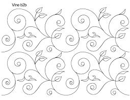 Longarm Quilting Designs Free Vine B2b Edge To Edge Digital Digital Quilt Pattern