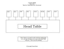 Free Individual Table Seating Charts Seating Chart