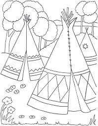 Indian Coloring Pages Fun Time