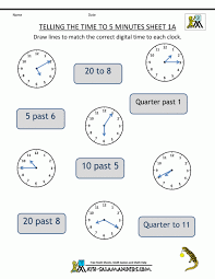 Sketching Time On Analog Clocks In 5 Minute Intervals A Maths ...