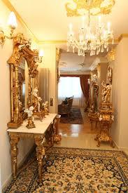 Furniture : Baroque Bathroom With White Washstand Under Vintage ...