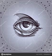 эскиз тату иллюминат эскиз глаз провиденс векторное изображение