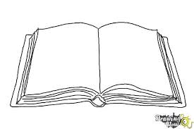 open book coloring page open book drawing outline clipart 600 x 400 pixels