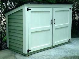 can shed trash storage outdoor d plastic vertical tool projects and ideas for the home garbage