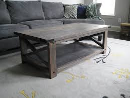 grey wood coffee table optional