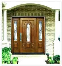 front door glass panels replacement replace really encourage regarding doors with side