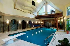 Mansion with indoor pool with diving board Bird Box Calgary Expensive Home14 Lava Hot Springs In Pictures Multimillion Dollar Homes Populate Calgarys Housing