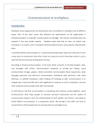 effective communication in the workplace essays
