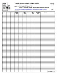 Blank Workout Logs 33 Printable Exercise Log Forms And Templates Fillable