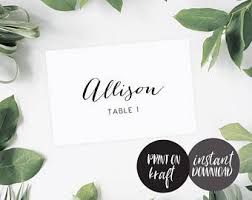 flat place cards flat place cards etsy