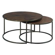 round cocktail table within hammary modern basics natural travertine decor 8