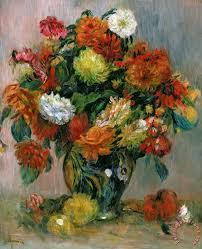 vase of flowers painting pierre auguste renoir vase of flowers art print