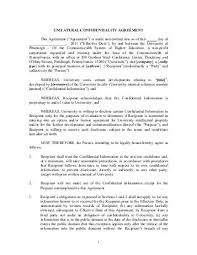 Mutual Confidentiality Agreement Unique Threeway Mutual Confidentiality Agreement Innovation