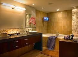 bathroom lighting design tips. Floating Bathroom Vanity And Lighting Also Soaking Bathtub Equipped Tv To Comfort When Bathing Design Tips U