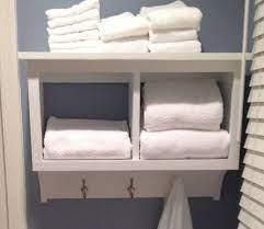 towel rack cubby wall shelf bathroom