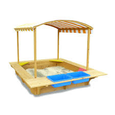 kidkraft sandbox with canopy costco kids wooden sandpit and seats