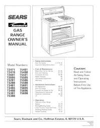 Kenmore Oven Manual Self Cleaning Oven Hammerwall 36275501990 Kenmore Free Standing Gas Range Owners Manual