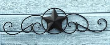 rustic texas star decor wall metal art god bless bathroom