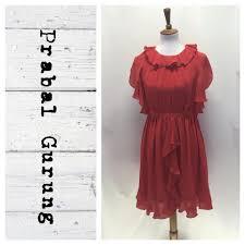 Prabal Gurung Size Chart Red Chiffon Work Office Dress