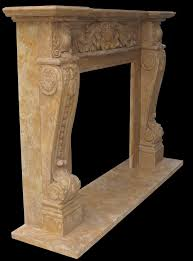 Victoria French Marble Fireplace Mantel Hand Carved Marble ...