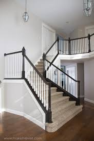 diy how to stain and paint an oak banister spindles and newel posts