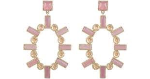 lyst larkspur hawk silver sa mis matched double drop earrings in pink