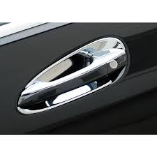 mercedes chrome door handle inserts 4 pc set 204 chis 2008 2010 mercedes parts and accessories